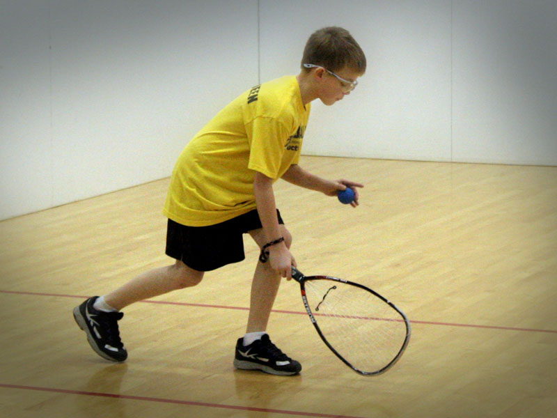 junior racquetball at White Oaks