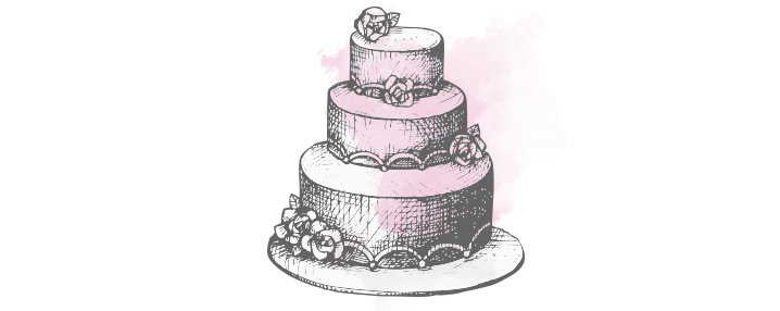 piece of cake on your big day